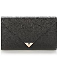 Alexander Wang Prisma Envelope Wallet in Black with Rose Gold - Lyst