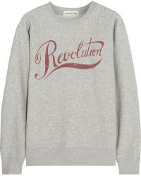 Étoile Isabel Marant - Revolution Printed Cotton-Blend Sweatshirt - Lyst