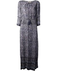 Tory Burch Floral Print Maxi Dress - Lyst