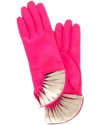 Thomasine Gloves - Paris Glove Sun Fan Wrist Pink - Lyst