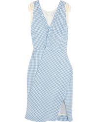 Altuzarra Portia Gingham Crinkled-Poplin Dress - Lyst