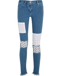 House of Holland - Appliquéd Mid-rise Skinny Jeans - Lyst