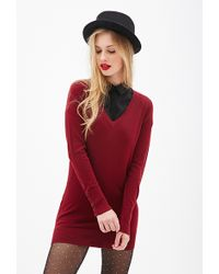 Forever 21 Longline Sweater - Lyst