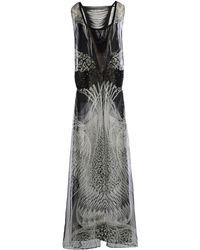 Roberto Cavalli Long Dress gray - Lyst