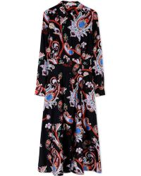 Mary Katrantzou 3/4 Length Dress black - Lyst