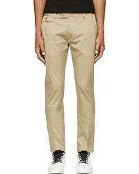 Diesel Khaki Chi_tight_e Slim Trousers - Lyst