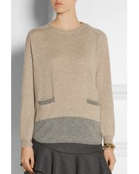 Chinti & Parker Two-Tone Cashmere Sweater - Lyst