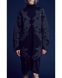 3.1 Phillip Lim Long Sleeve Dress with Floral Embroidery - Lyst