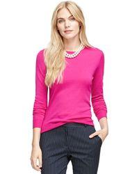 Brooks Brothers Saxxon Wool Crewneck Sweater - Lyst