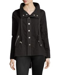 Raison D'etre Black Zip-Back Trenchcoat - Lyst