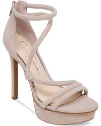 Jessica Simpson Caela Asymmetrical Platform Dress Sandals - Lyst