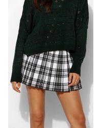 59a84e2b1fc Tripp Nyc - Pleated Plaid Micro-Mini Skirt - Lyst