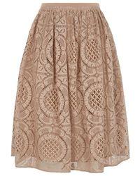 Burberry London English Lace Full Skirt - Lyst