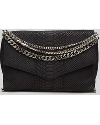Milly Clutch  Collins Chain Suede - Lyst