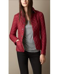 Burberry Diamond Quilted Jacket - Lyst