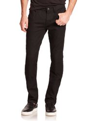 J Brand Bearden Slim Moto Jeans black - Lyst