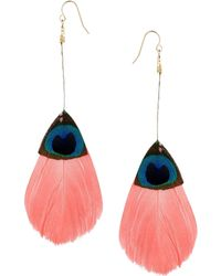 Asos Feather Earrings - Lyst