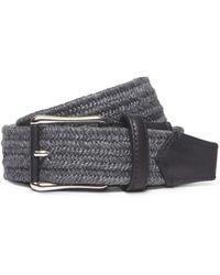 Ermenegildo Zegna Braided Linen And Leather Belt - Lyst
