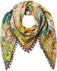 Etro Paisley Print Cotton-Silk Scarf - Lyst