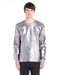 Diesel Silver Serafino Sweatshirt - Lyst