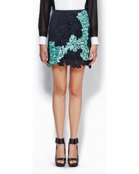 3.1 Phillip Lim Mixed Lace Skirt - Lyst
