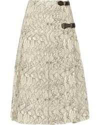 Antonio Berardi Pleated Lace Skirt - Lyst