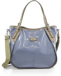 Tod's Gline Small Coatedcanvas Shopping Bag - Lyst