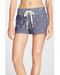 Jane & Bleecker New York - Print French Terry Shorts - Lyst