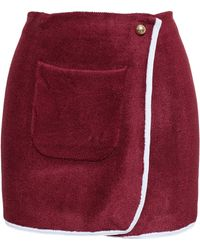 J.W. Anderson Spongy Wrap Skirt red - Lyst