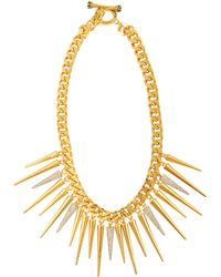 Juicy Couture - Strike Pave Gold Spike Necklace - Lyst