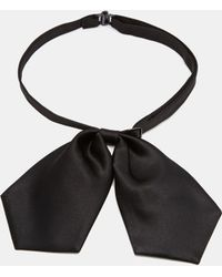 Asos Pointed Bow Tie - Lyst