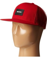 Nixon Team Trucker Hat - Lyst