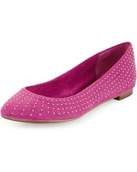 Splendid India Sueded Fabric Ballet Flat - Lyst