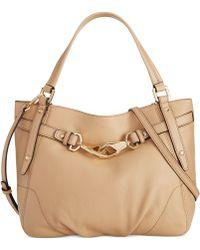 Calvin Klein Nalene Pebble Shopper beige - Lyst