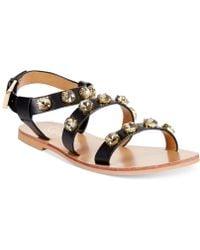 Report Signature Zoran Bling Flat Sandals black - Lyst