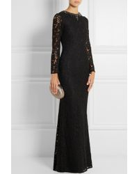 Needle & Thread Embellished Floral-Lace Gown black - Lyst