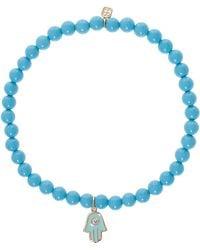 Sydney Evan Turquoise Hamsa Bracelet - Lyst
