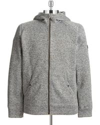 DKNY Hooded Knit Zip Up - Lyst