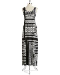 Nine West Tribal Frame Maxi Dress - Lyst