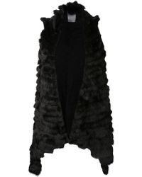 Jocelyn Black Long Vest - Lyst