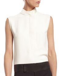 Gucci White Silk Cady Shirt - Lyst