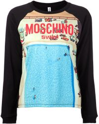 Moschino Poolside Print Sweatshirt - Lyst
