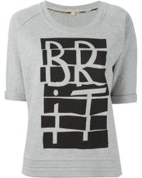 Burberry Brit Printed Cotton Sweatshirt - Lyst