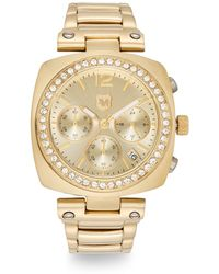 Andrew Marc - Goldtone Ip Stainless Steel & Crystal Bezel Bracelet Watch - Lyst