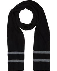 Barneys New York Stripe-end Knit Scarf - Lyst