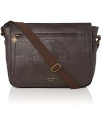 Ted Baker Core Emboss Messenger Bag - Lyst