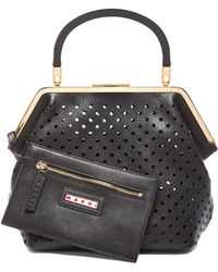 Marni Perforated Leather Bag - Lyst