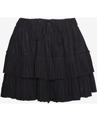 Elizabeth And James Double Ruffle Miniskirt - Lyst