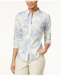 American Living - Printed Floral Button Down Shirt - Lyst