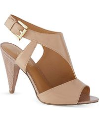 Nine West Shapeup Leather Heeled Sandals - Lyst